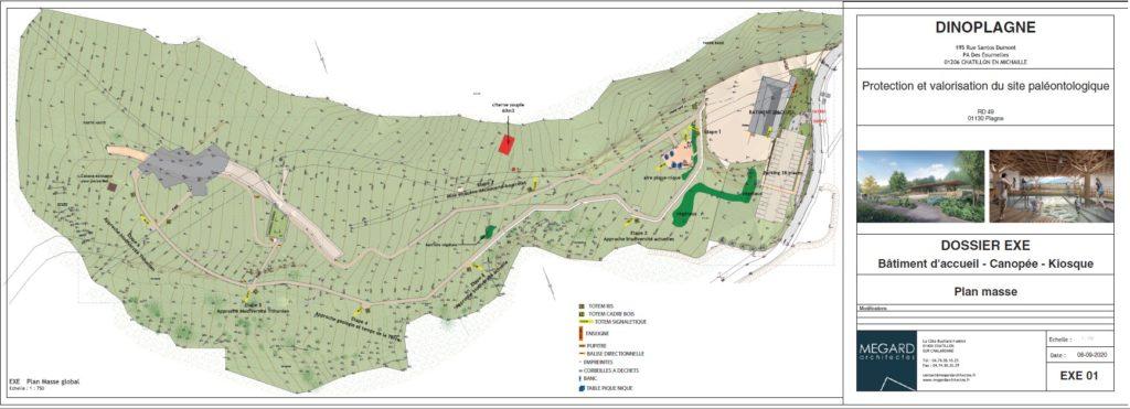 Plan de masse chantier Dinoplagne